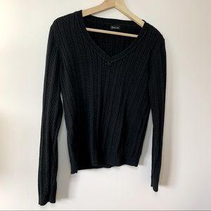 Dalia | Black knit v neck longsleeve size M